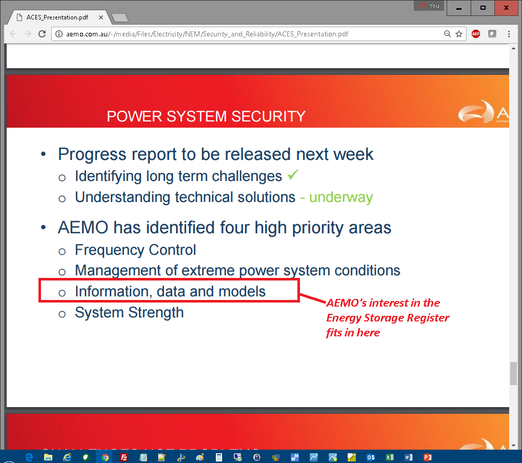 AEMO sees four high priority areas in their FPSS Program